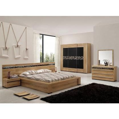 chambre adulte compl te elisa achat vente lit complet chambre adulte compl te elisa cdiscount. Black Bedroom Furniture Sets. Home Design Ideas