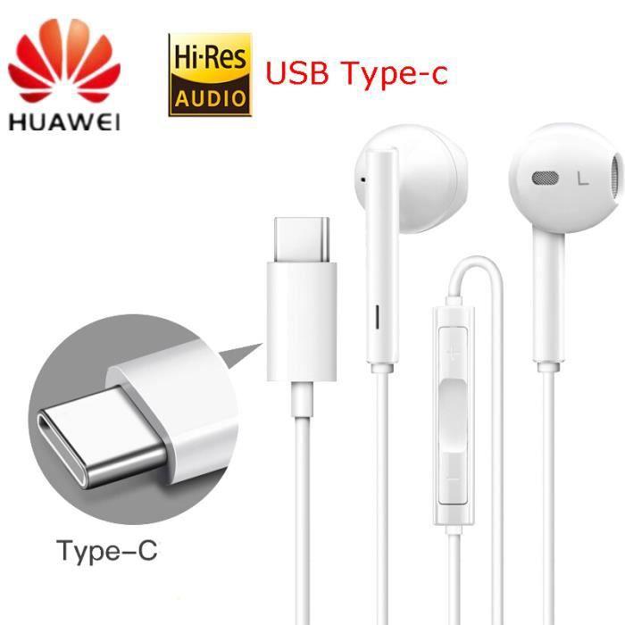 COQUE - BUMPER HUAWEI CM33 Ecouteurs USB Type-C In Ear Earphone C