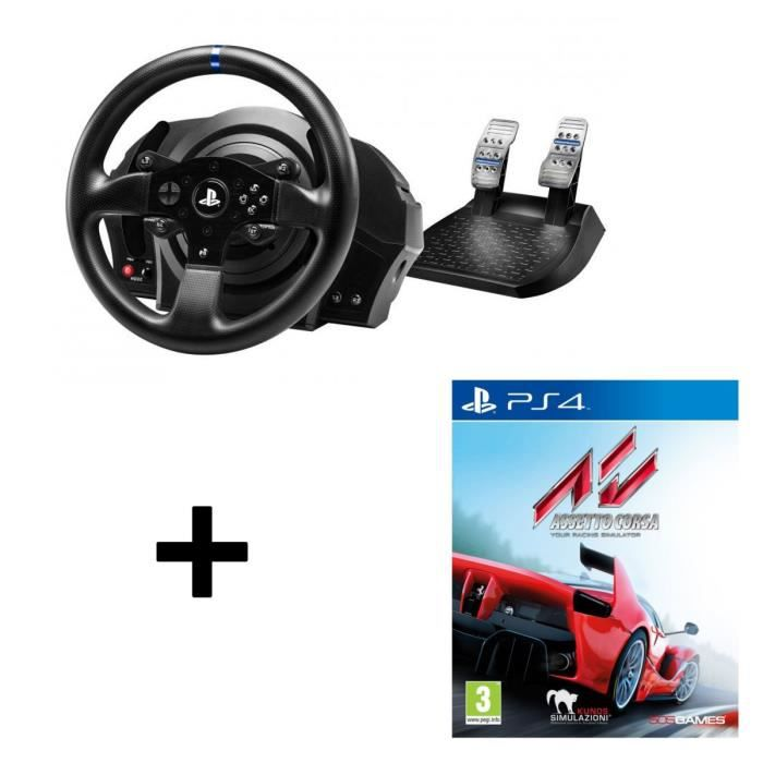 pack thrustmaster t300rs volant p dalier pour ps4 assetto corsa jeu ps4 prix pas cher. Black Bedroom Furniture Sets. Home Design Ideas