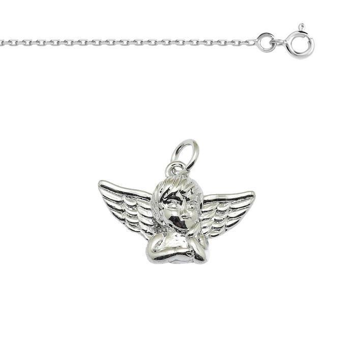 Argent sterling 925/Charm pendentif ange avec b/éli/ère 15/mm