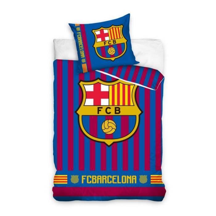 HOUSSE DE COUETTE SEULE Parure de lit FC Barcelone 100% Coton - Housse de