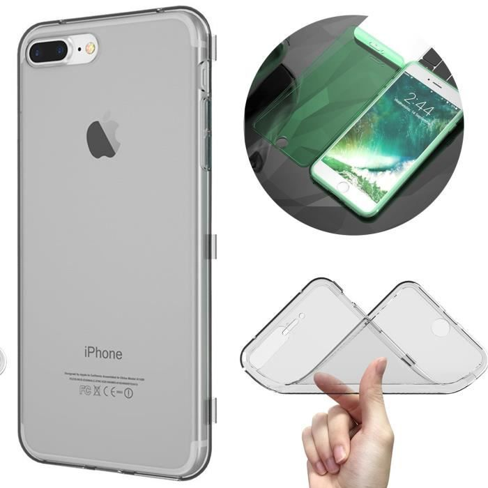 coque iphone 7 rabat gris
