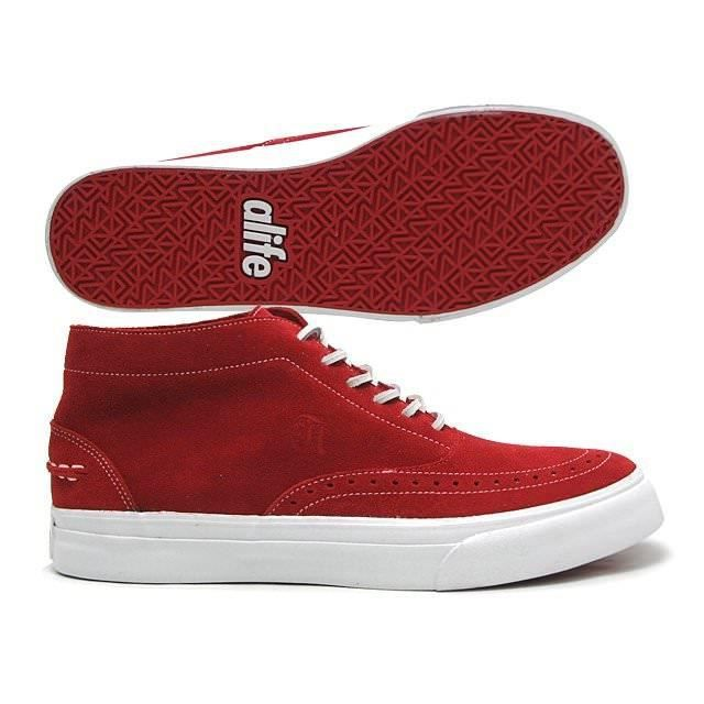 Sneakers Homme ALIFE Public Estate Mid Red