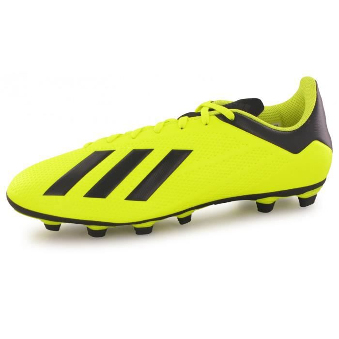 Chaussures Adidas X 18.4 Fg Jaune Homme - Cdiscount Sport