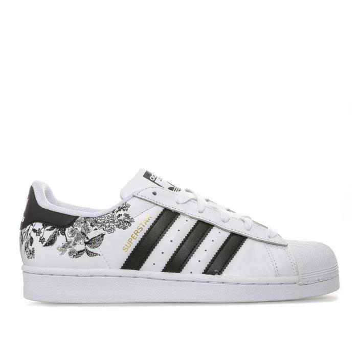 Adidas Originals Baskets Superstar Blanc Noir Femme Blanc ...