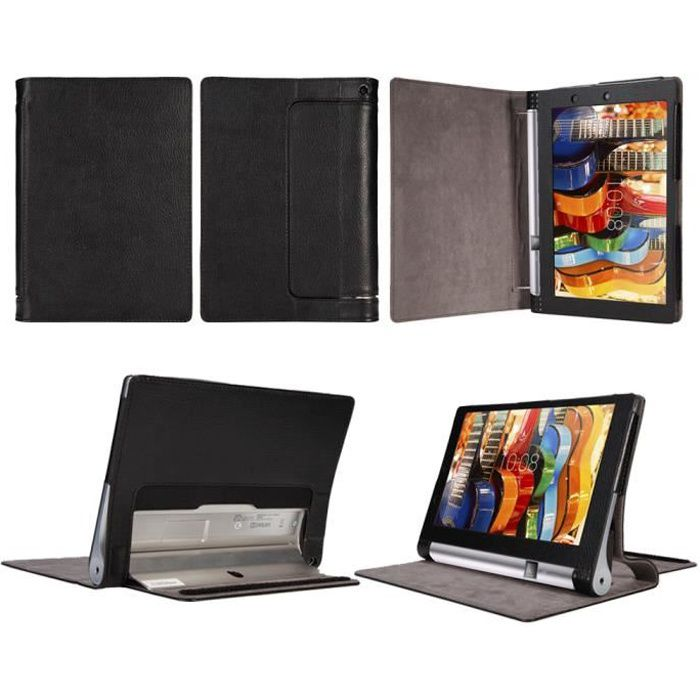 etui coque lenovo yoga tablet 3 10 pouces noir housse. Black Bedroom Furniture Sets. Home Design Ideas