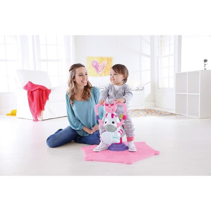 Fisher Price - R4341 - Eveil - Zèbre Tourni-Rebond - Rose