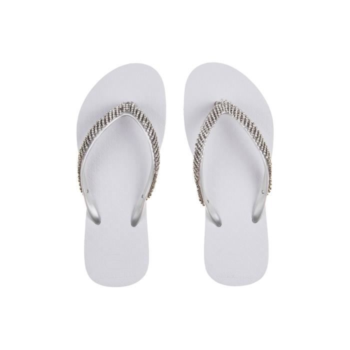 Tongs femme Amazonas Fun Luxury Strass V Blanc