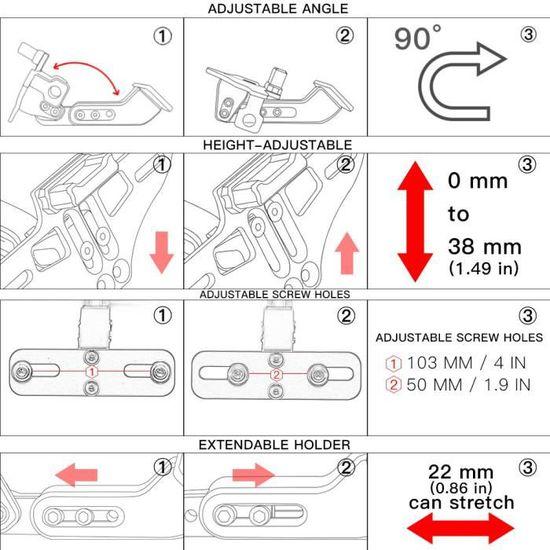 Bleu Moto Universel CNC Aluminium Arri/ère Supports de Plaque Dimmatriculation pour Yamaha MT-01 MT-03 MT-07 MT-09 MT-10 TMAX 530 500 YBR 125 XJR1300// Z650 Z750 Z800 Z900 Z1000 Z1000SX Z300 Z250