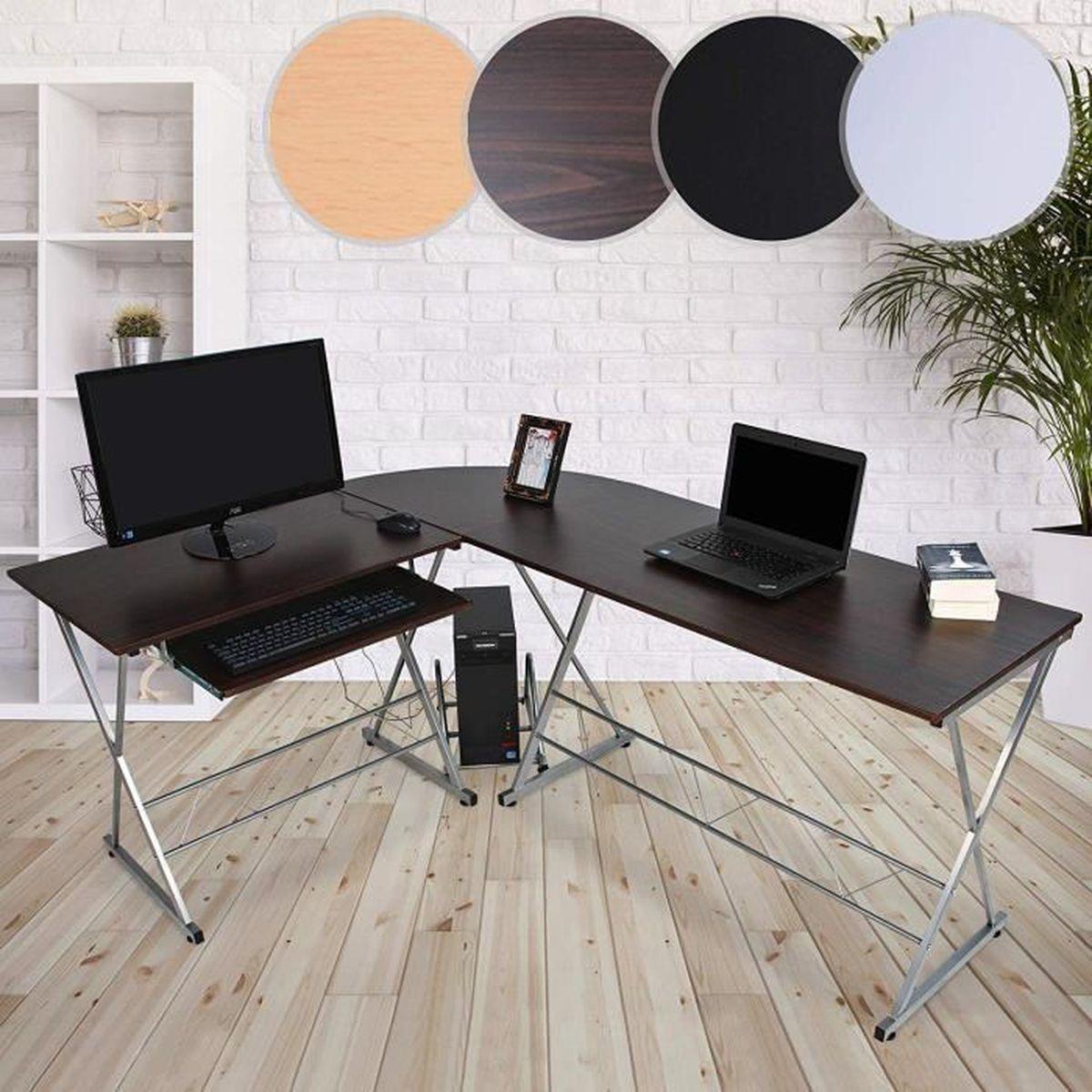 Bureau D Angle Arrondi bureau d'angle table informatique meuble d'ordinateur