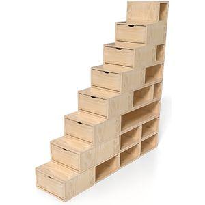 CASIER POUR MEUBLE Escalier Cube de rangement hauteur 200 cm - Couleu
