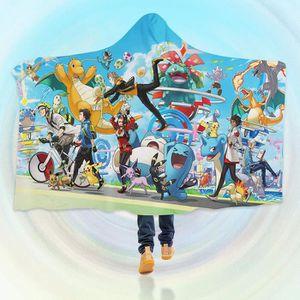 COUVERTURE - PLAID 3D Hooded Blanket for Pokemon 8247  Couverture à C