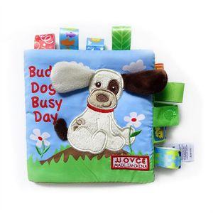 LIVRE INTERACTIF ENFANT Livre de puzzle en tissu pour bébé animal Livre po