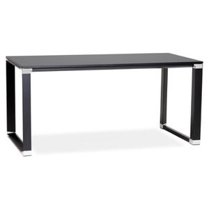 BUREAU  Bureau design en bois noir 160 cm Kline