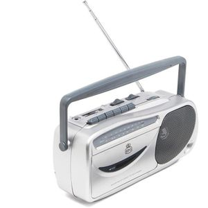 RADIO CD CASSETTE GPO 9041 AM FM Radio Cassette Recorder Silver