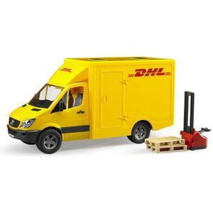 VOITURE - CAMION BRUDER - Camion de transport DHL avec un transpale