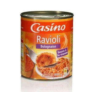 PLAT CUISINE - VIANDE  [LOT DE 3] CASINO - Ravioli Bolognaise 800G