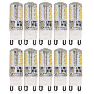 AMPOULE - LED Elinkume Ampoule LED 10x G9 3W équivalent à 25W Bl