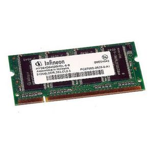 MÉMOIRE RAM 512Mo RAM PC Portable SODIMM Infineon HYS64D64020H