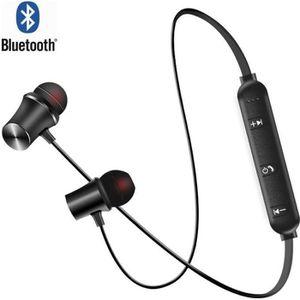 CASQUE - ÉCOUTEURS Écouteurs Bluetooth sans fil avec micro Universel