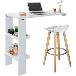 MANGE-DEBOUT SoBuy® FWT55-W Table de Bar Murale Table Haute de