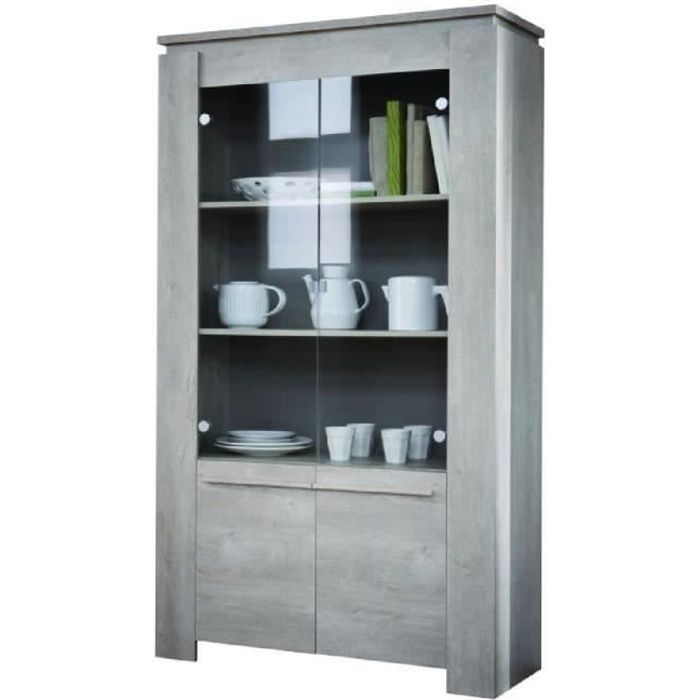 segur vitrine 2 portes coloris ch ne achat vente. Black Bedroom Furniture Sets. Home Design Ideas