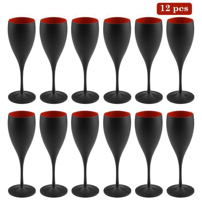 12 Verres à vin,Moët & Chandon Champagne,blanc-or en acrylique Gobelet