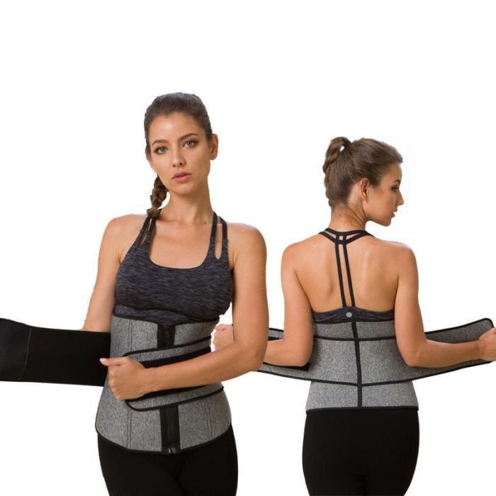 DoringIN-Ceinture de Force Ceinture corset,Gris (Taille XXXL)Tour de taille 87-97cm.Ceinture lombaire, soutien dorsal inférieur