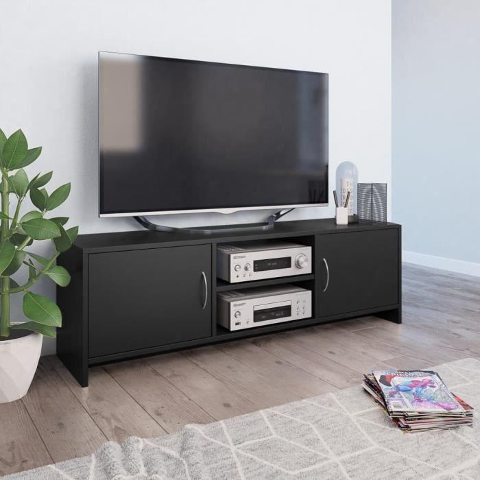 Meuble TV Noir 120 x 30 x 37,5 cm Aggloméré