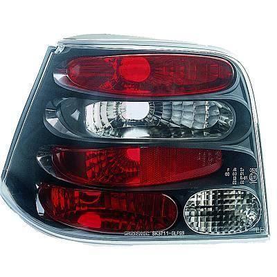 2213396 , Paire de feux arrière noir pour VW Golf 4 Berline de type 1J de 1997 a 2003