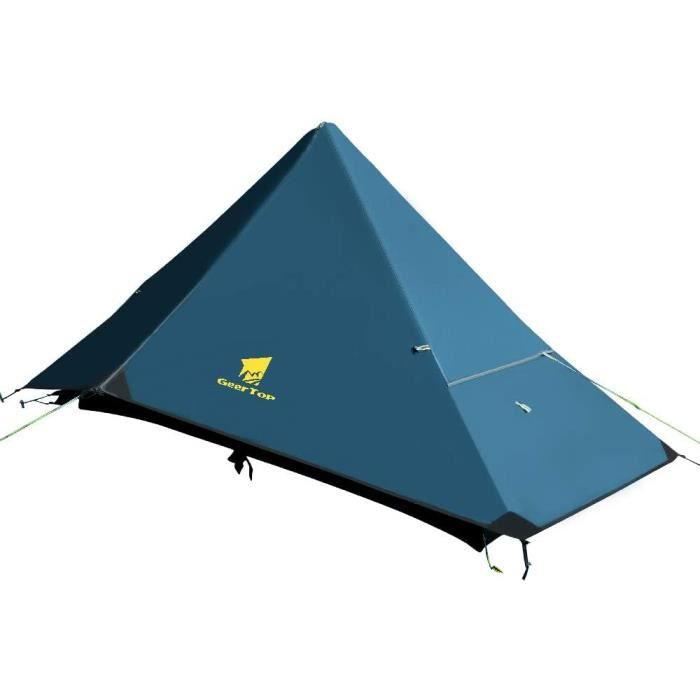 Geertop Tente de randonnée 1 Personne 4 Saisons Tente de Camping légère extérieure étanche Unique pour l'alpinisme Randonnée Voyage