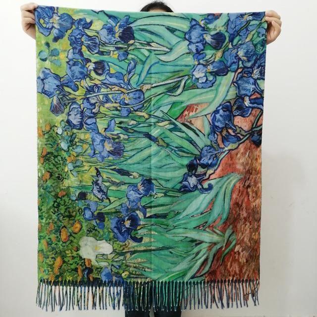 Echarpe,Écharpe en cachemire de peinture à l'huile Van Gogh pour femme,châle en laine imprimé,Cape - Type c10 - L190cm W70cm