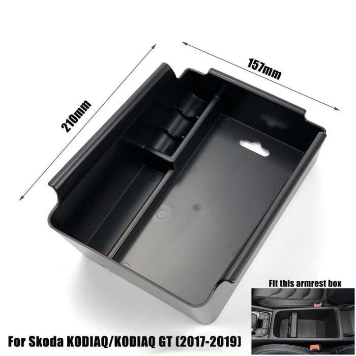For KODIAQ and GT -Boîte de rangement pour accoudoir de voiture, pour Skoda Superb Octavia A7 kodiaql, conteneur de Console centrale