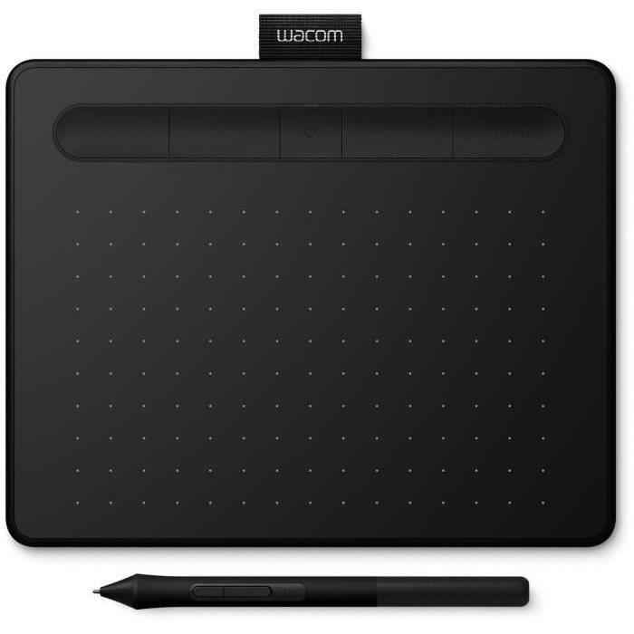 WACOM Tablette Graphique Intuos S - Noir + ACK-20003 5 pointes stylet feutre