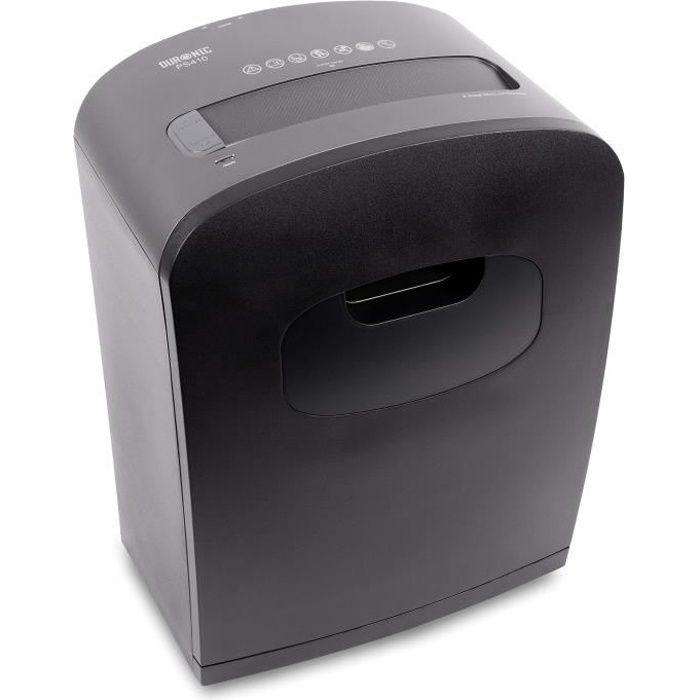 Duronic PS410 Destructeur de Documents 14 litres - 8 Feuilles de Papier A4 - Coupe micro