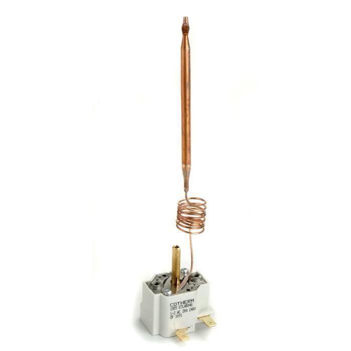 Thermostat mono bulbe pour chauffe-eau domestique à régulation 12/70°C type GTLH, L de canne: 740mm