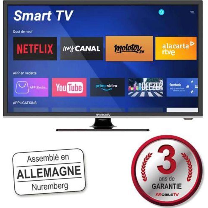 Smart TV Connectée 22- 55 cm Android Camping Car Camion Fourgon Internet WiFi 12/24V - MobileTV Silverline - Garantie 3 Ans