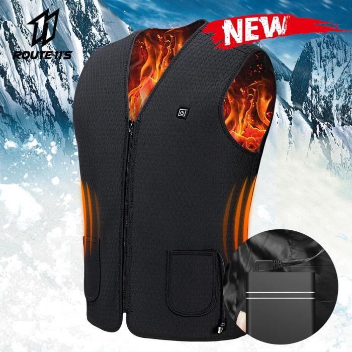 Veste de moto Hommes Veste chauffante USB Veste d'équitation d'hiver