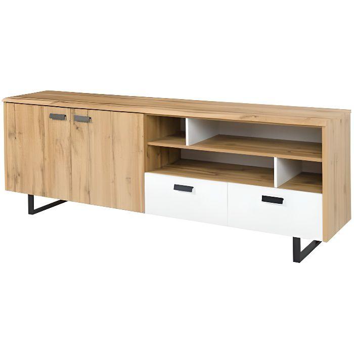 Buffet, bahut, enfilade grand modèle OAK. Meuble design et tendance pour votre salon ou salle à manger. Design type industriel 45