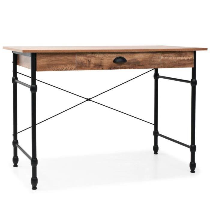 Bureau avec tiroir 110 x 55 x 75 cm Couleur de chêne - Brun - Meubles - Meubles de bureau - Bureaux - Brun - Brun