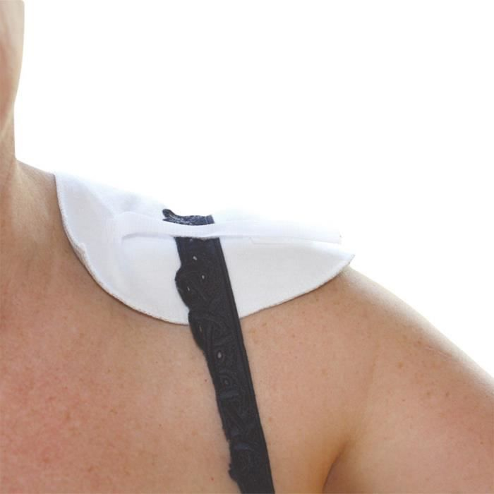 Lot de 2 protections bretelles VITAEASY pour soutien-gorge avec fil -cuivre- - Fermeture autoagrippante