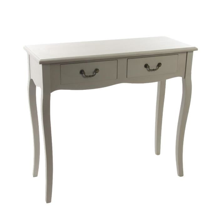 Console chrysa 2 tiroirs achat vente console console - Petite table bistrot pas cher ...