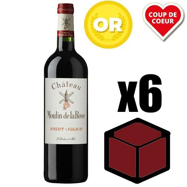 VIN ROUGE X6 Château Moulin de la Rose 2013 75 cl AOC Saint-