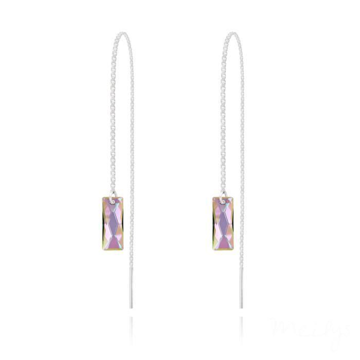 Boucles d'oreilles pendantes traversantes