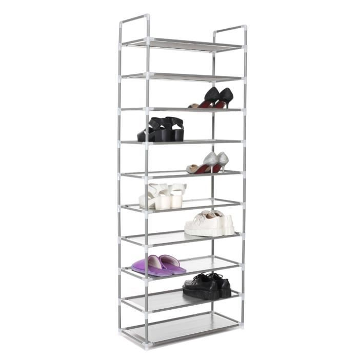 nouvelle rangement pr chaussures placard portable organisateur chaussures simple rack stand 10. Black Bedroom Furniture Sets. Home Design Ideas