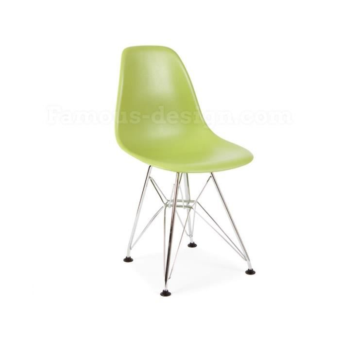 Chaise enfant eames dsr vert achat vente chaise for Achat chaise eames