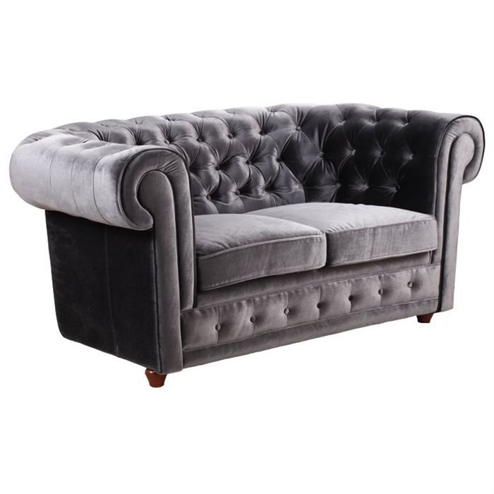 Object moved - Canape chesterfield velour ...