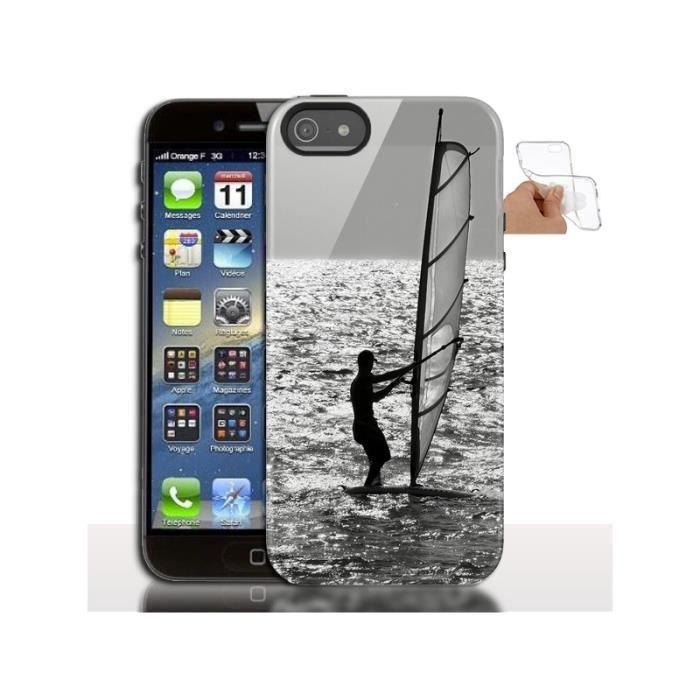 Coque iPhone 5s Planche a Voile - Coque de télepho