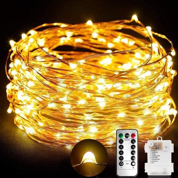 STLOVe Fairy Lights IP65 Etanche D/écoration Romantique,Avec Minuterie /à Distance et /étag/ère /étoile /à Cinq Branches,Pour Sapin de No/ël Mariage Terrasse Guirlande Lumineuse 10M 100 LED Aliment/é Par USB