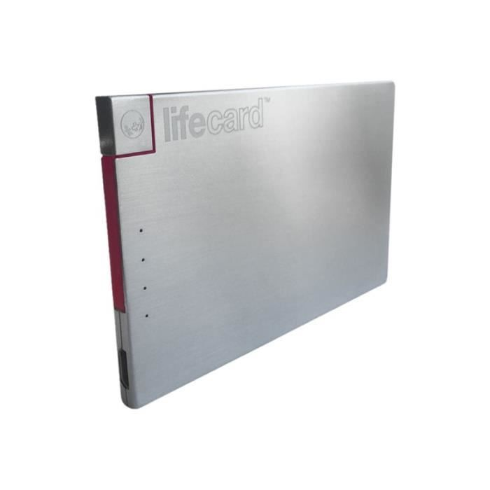 CÂBLE D'ALIMENTATION PlusUs LifeCard - Banque d'alimentation - 1 connec